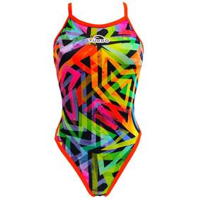 Turbo Neon Fluo Naiset Uimapuku , monivärinen